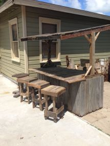 Wood Fence Bar And Pallet Stools Home