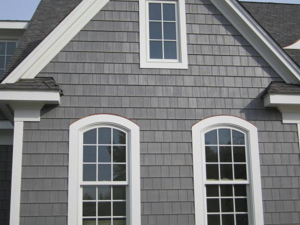 Gray House with Shake Siding