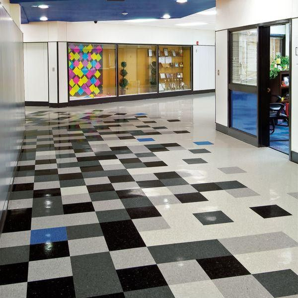 Armstrong Classic Black VCT Tile  Vct tile Checkerboard