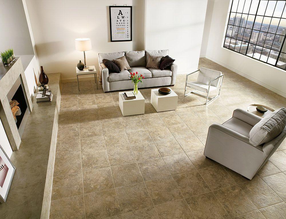 Armstrong Luxury Vinyl Tile Flooring   LVT   Tan Tile   Living Room Ideas   Luxury Vinyl ...