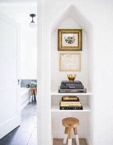Acoustic garden stacked books in  nook also styling pinterest rh