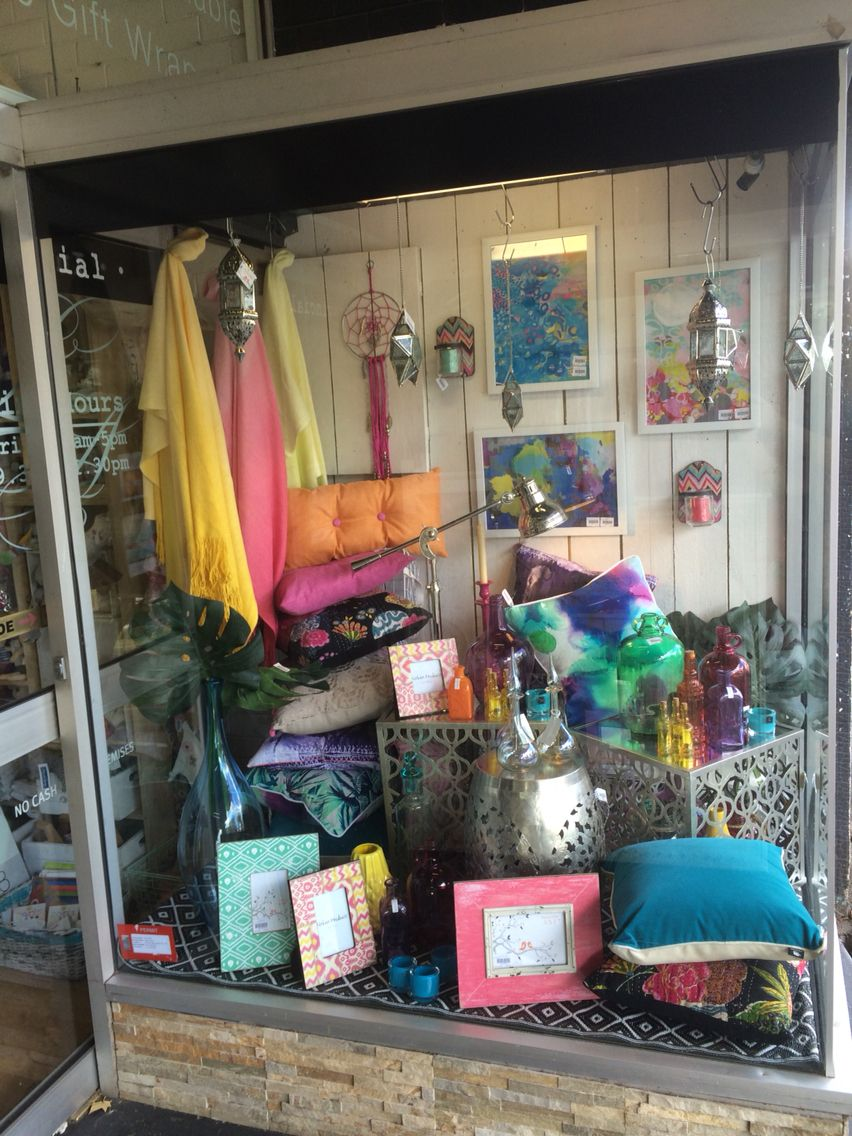Crazy Bright Modern Moroccan Inspired Window Shop Display Full Of