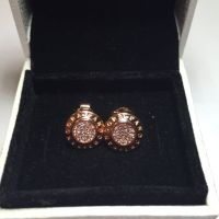 Pandora Rose Gold Earrings Stud Signature | Pandora rose ...