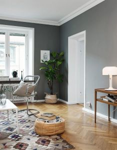 So many nice elements in this stylish living room the wall color is adding  lot of atmosphere also  interiors pinterest apartments and rh nz