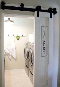 Laundry Room & Barn Door (A House and A Dog) | Barn doors ...