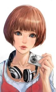 girl with short hair modern era