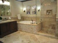 bathroom fixtures travertine   Vanity honed driftwood ...