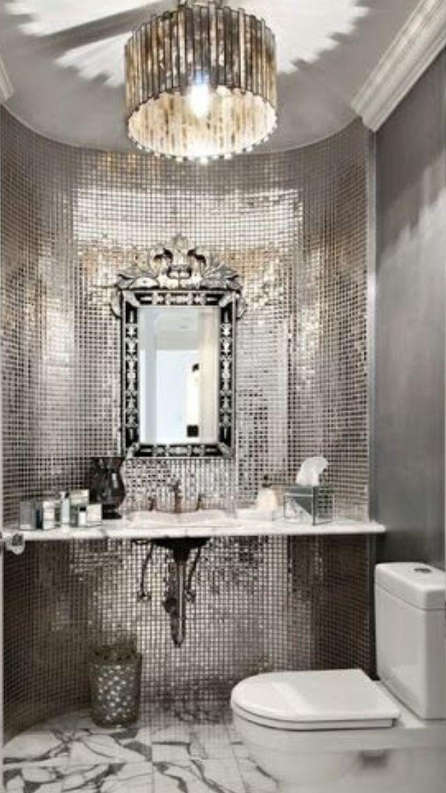 Luxury Silver Bathroom #Luxurydotcom
