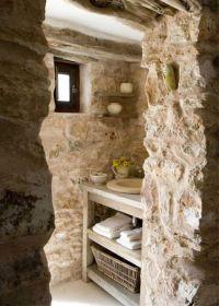Rock Wall Natural Uneven Wall Tile Stone Bathroom Ideas ...