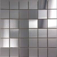 Brush silver metallic mosaic wall tiles backsplash SMMT030 ...