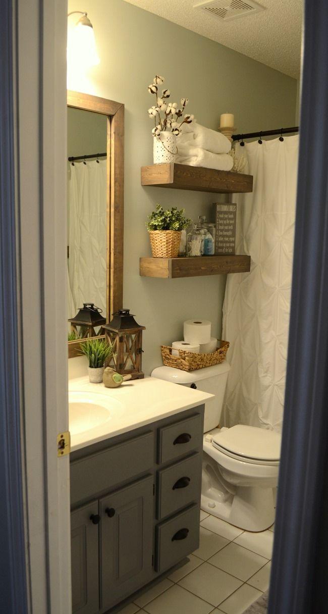 Modern Farmhouse Inspired Bathroom Makeover (One Room, One ...