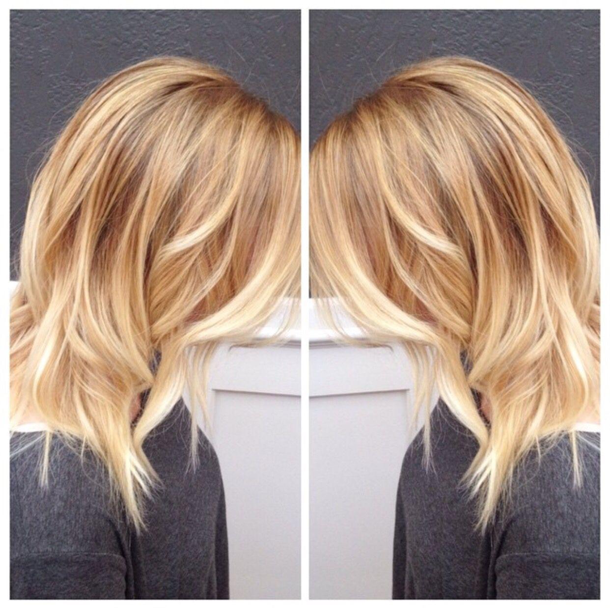 Haare Kupfer Blond Strähnen Der Salon Creastile By Vanessa Friseur