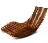 Wooden Garden Sun Bed Patio Lounger Recliner Rocking Chair ...