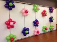 balloon flower wall  | 90th Party | Pinterest | Balloon ...