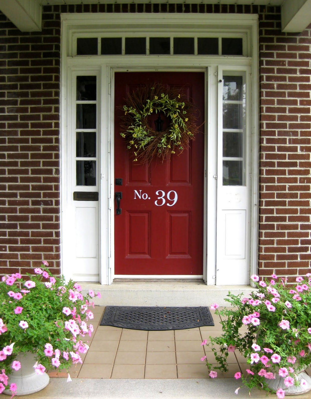 Front Door Colors Red Brick Home Front Entry Before & After
