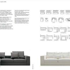 Zanotta Sofa Bed Couch With Built In Beta Sullivan 080113