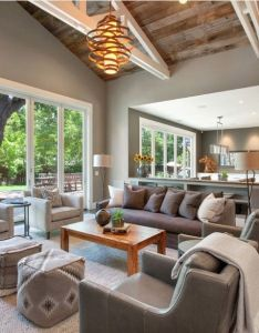 Color and ceiling idea alamo farmhouse remodel living room san francisco lmk interiors also tips to make your home elegant  on  budget quick easy rh pinterest