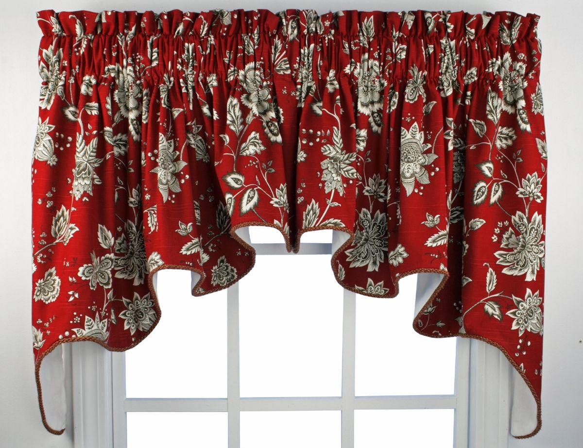 red and yellow kitchen curtains outdoor tampa window valances french country choosing