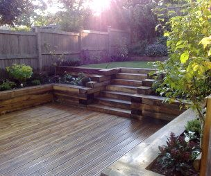 Railway Sleepers Garden Google Search Railway Sleeper Garden