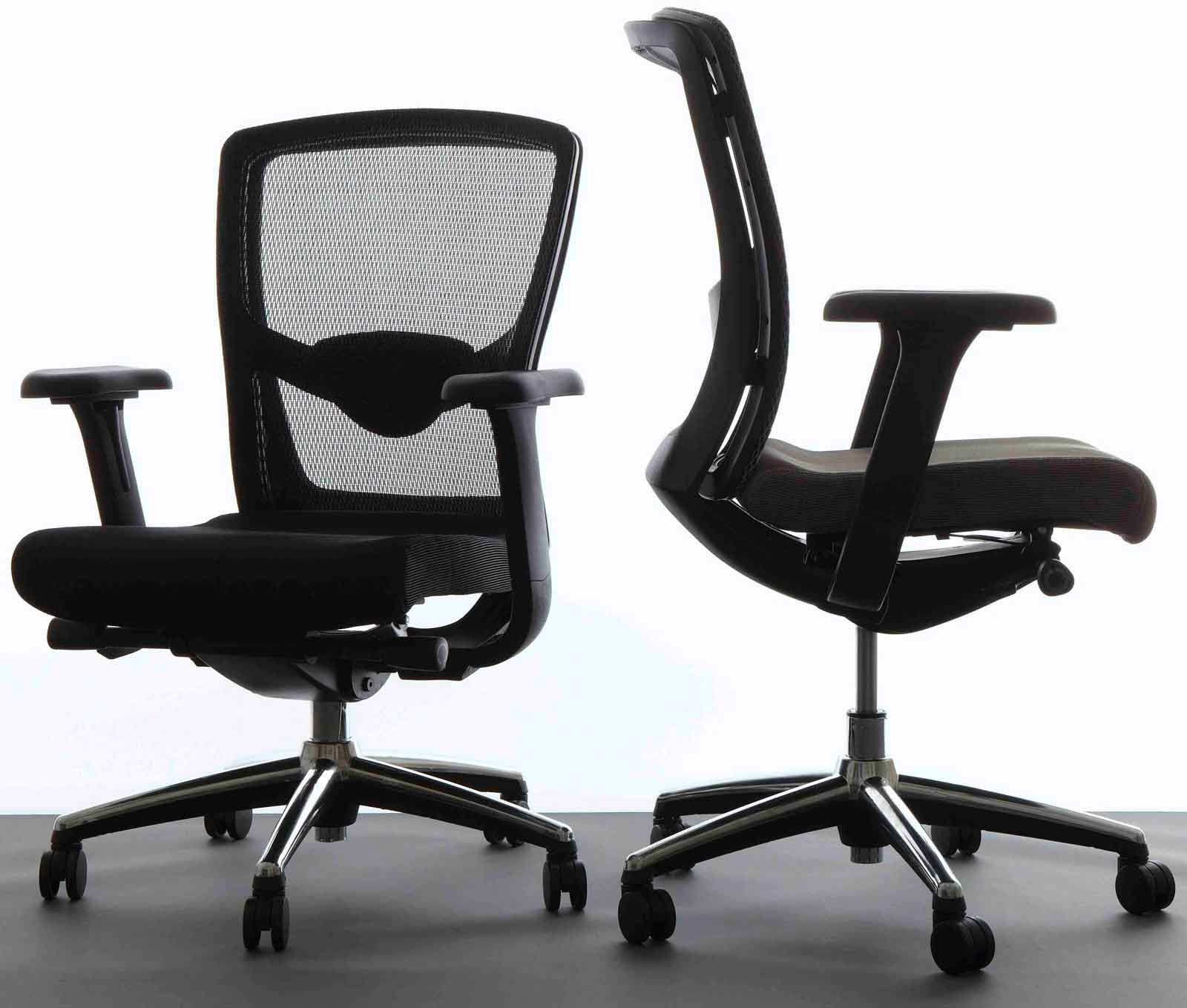 Comfortable Office Chairs Marvelous Ergonomic Desk Chairs With Black Color And Set