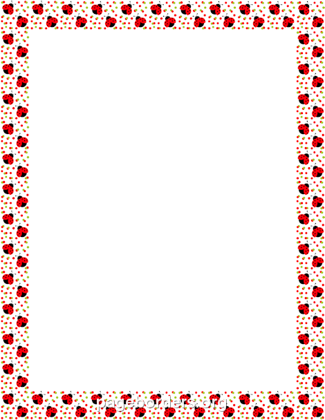ladybug border marcs decoratius