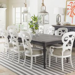 Coastal Kitchen Table And Chairs Purple Rugs Washable Living Retreat 9 Piece Rectangular Leg Set