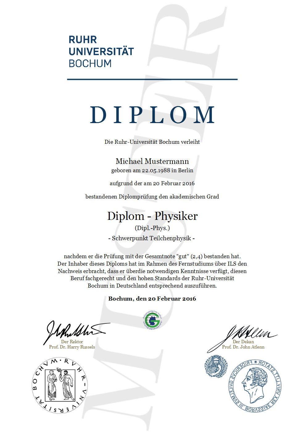 Diplom Urkunde online erstellen gestalten und ausdrucken