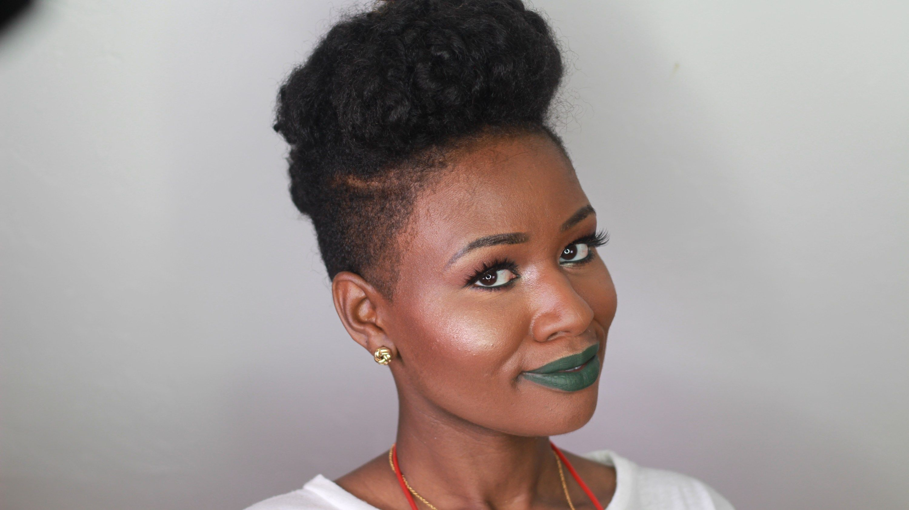 coloured raine ivy lipstick swatch on dark skin