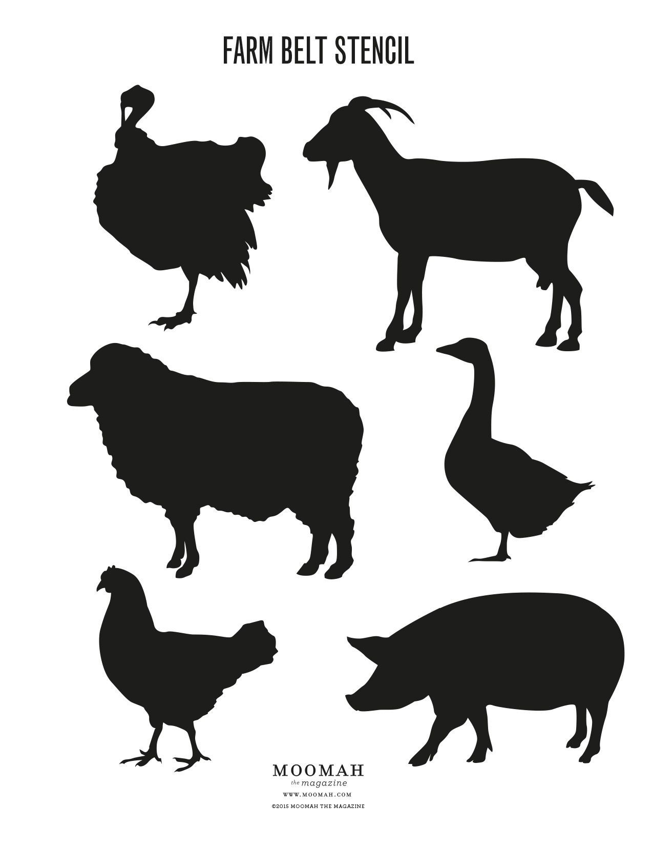 Farm Animal Stencils Free