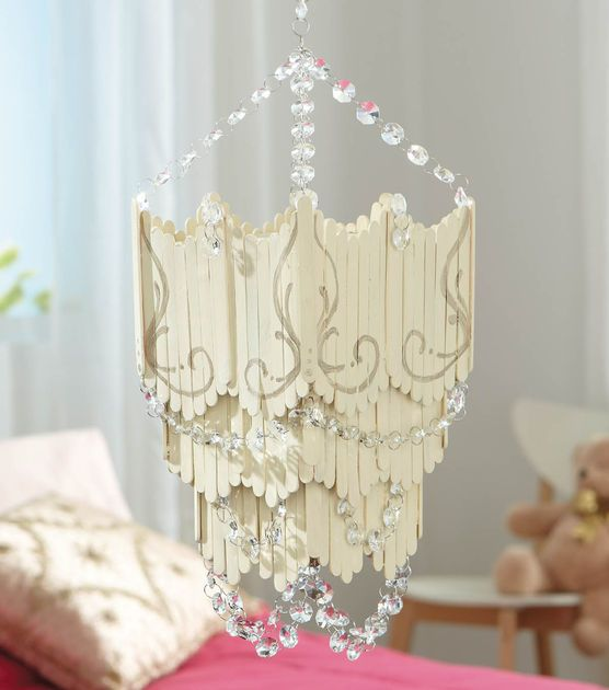 Diy Chandelier Popsicle Stick Directions Available At Joann Supplies