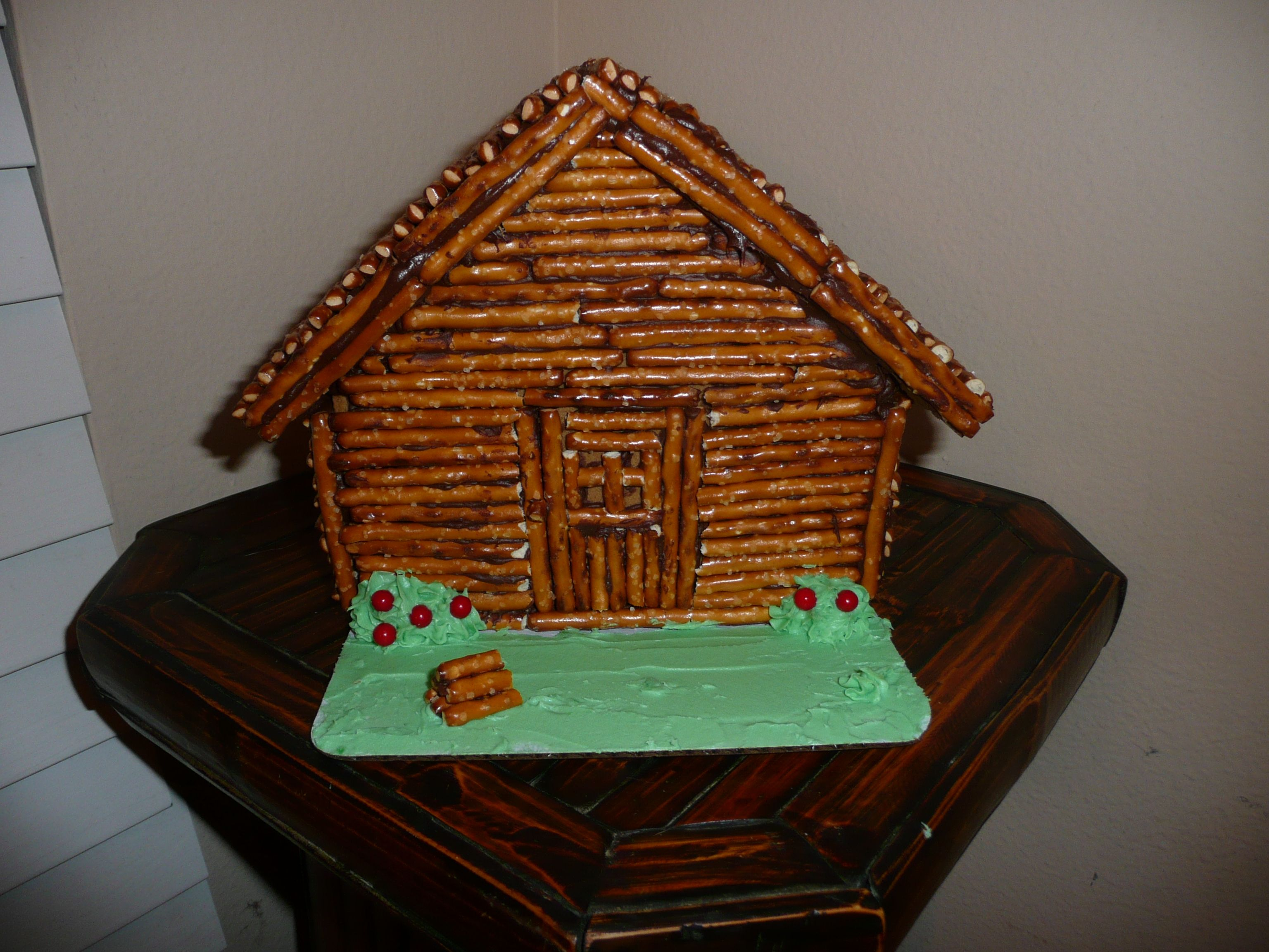Presidents Day Craft Abraham Lincoln Log Cabin Made From Gingerbread House After Christmas