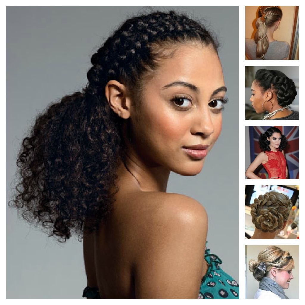 Curly Hair Hairstyles For Mixed Hair Hairs Picture Ideas Para