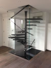 enclosed floating square spiral staircase | Recent ...