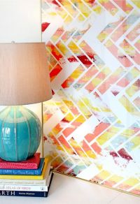 Canvas, masking tape, and paint. | Design | Pinterest ...
