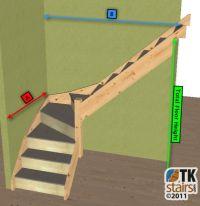 Made to measure 3 kite winder staircase kit (L Shape ...
