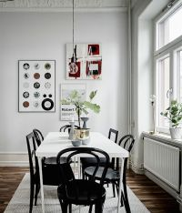 Dining: white rectangular dining table with mismatched ...