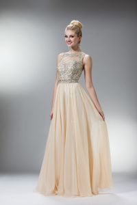 Prom Dresses | CIN7936CHP CHAMPAGNE Beaded Strapped Boat ...