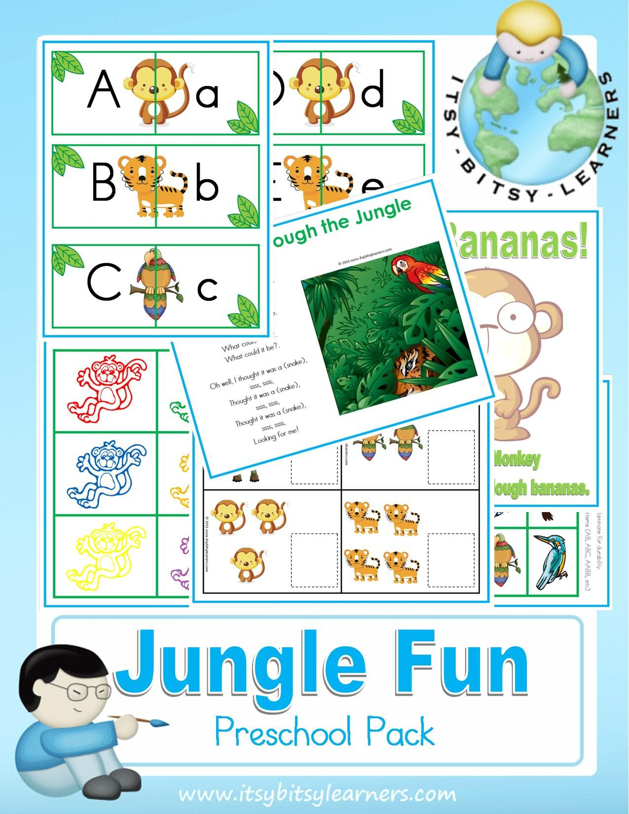 Free Preschool Kindergarten Printable Packs Including Cut