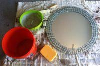 DIY tiled mosaic mirror | DYI | Pinterest | Mosaic mirrors ...