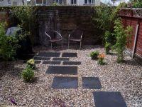 easy low maintenance modern backyard   Chelmsford - Black ...