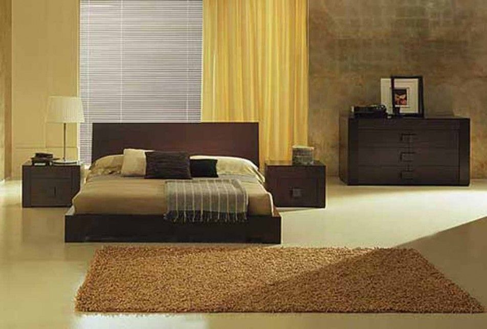 Brown bedroom decor ideas with sweet dark wood bed frame that have beige bedding complete the black pillows also simple bedside table colourful and inspiring design idea in classic rh pinterest