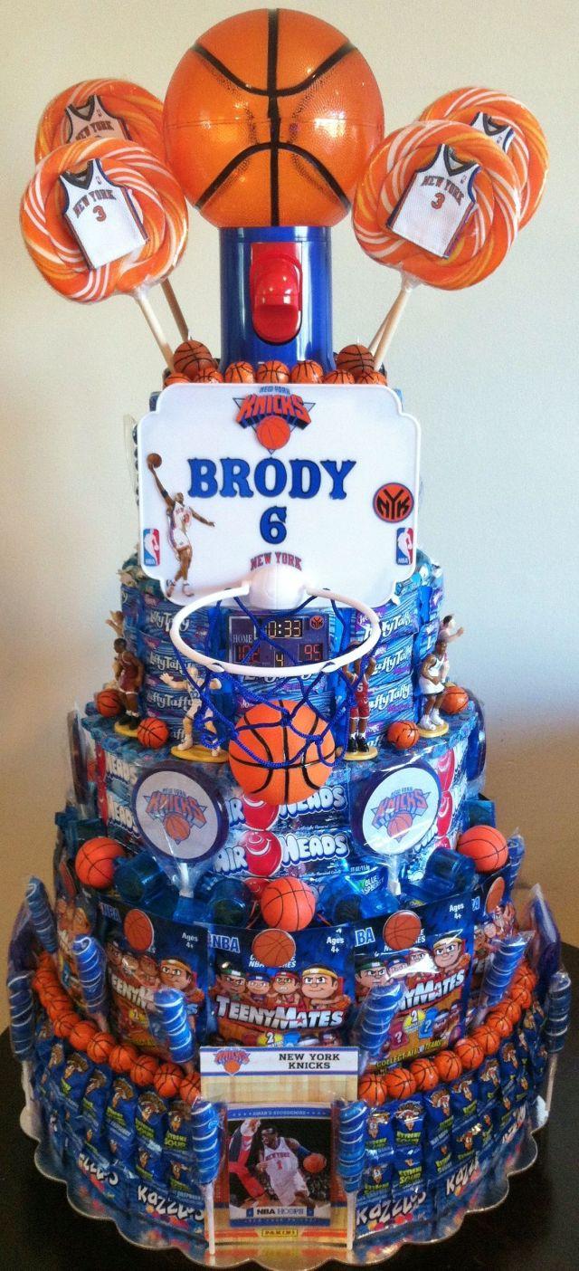 Basketball party knicks team basketball theme cake