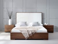 Bella Natural Walnut | Faux-leather headboard | furni ...