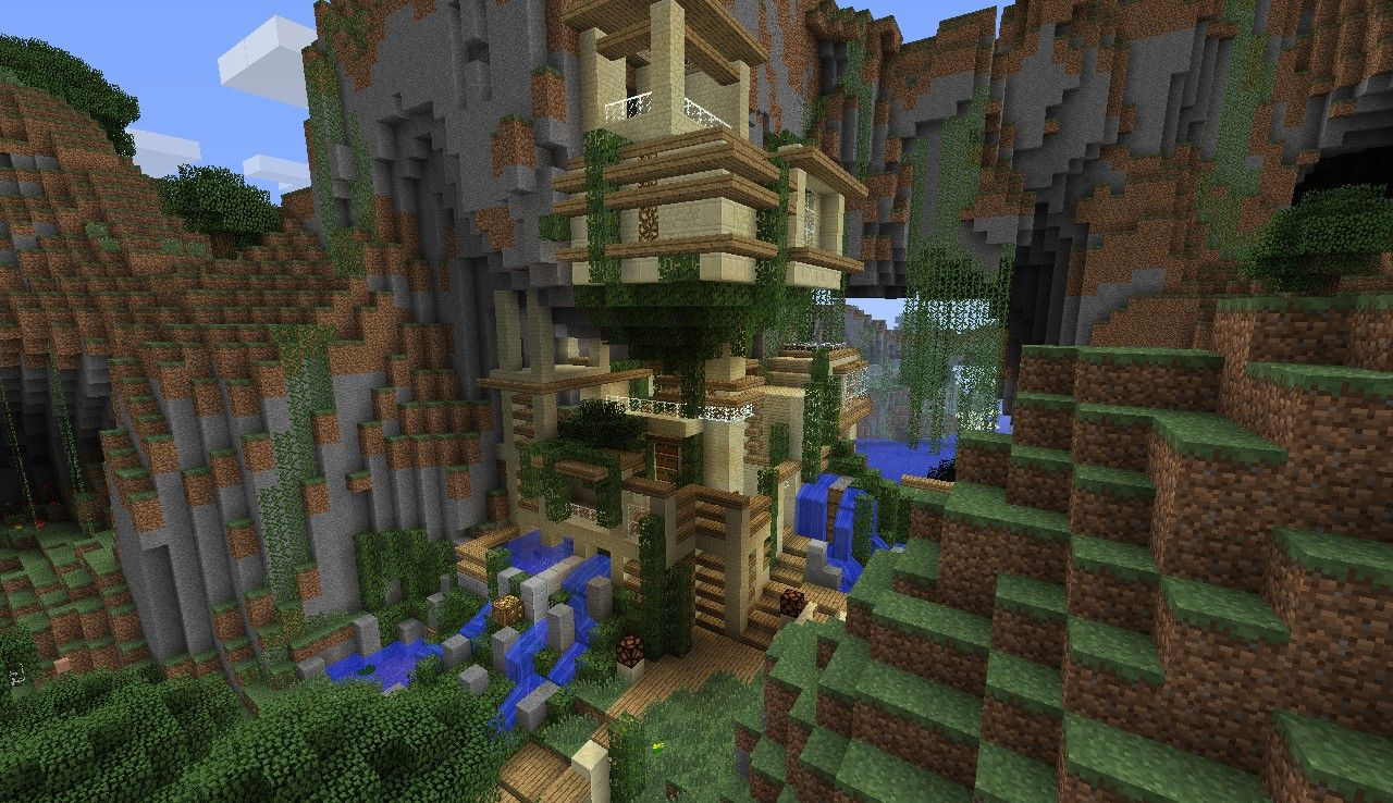 Minecraft Cliff House Google Search Minecraft Pinterest