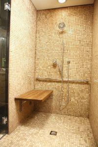 Amazon.com - Teak Wall Mount Fold Down Shower Bench/Seat ...