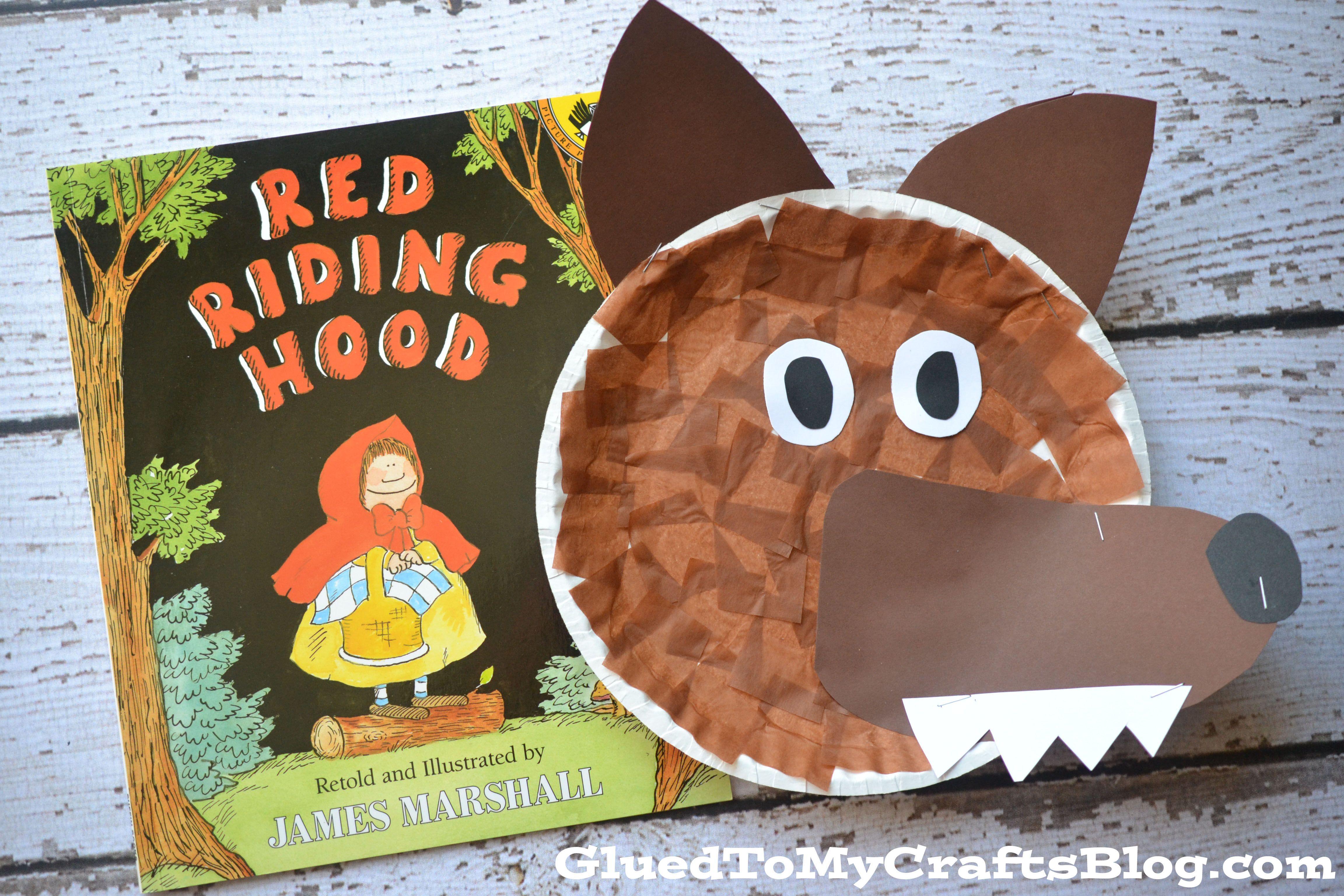 Paper Plate Wolf Kid Craft