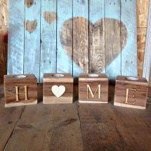 Wooden Pallet Candle Holder Ideas Pallets