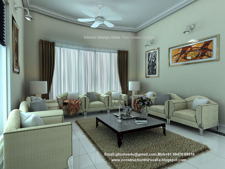 Modern Living Room Kerala Style Wallpaper Idea