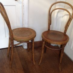 French Bentwood Cafe Chairs Stainless Steel Dining Antique Bent Wood