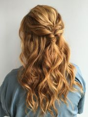 natural red head. grad hairstyles